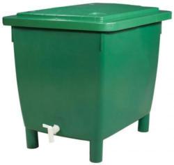 Garantia Regentonne eckig, 400 L grün, inkl. Deckel und Auslaufhahn