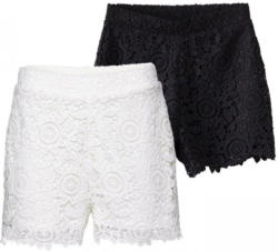 Damen-Shorts mit Spitzenbesatz