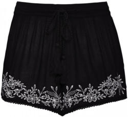 Damen-Shorts mit Blumen-Stickerei