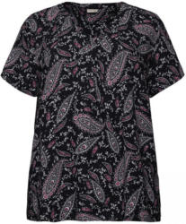 Damen-Bluse mit kreativem Muster, große Größen