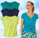 NKD Damen-T-Shirt mit Quasten und Perlen