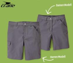 CRANE Damen-/Herren-Wander-Shorts, Baumwolle (Bio)
