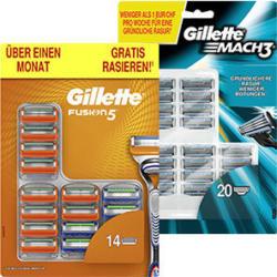 Gillette Mach3 oder Fusion5  Rasierklingen jede 20er/14er-Packung