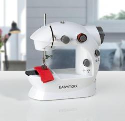 EASYmaxx Mini-Nähmaschine mit Fußpedal, ca. 20x12x21cm