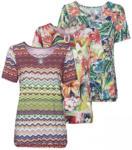 NKD Damen-T-Shirt mit Schlüsselloch-Ausschnitt