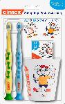 dm-drogerie markt elmex Baby Zahnpflegeset 2x Zahnbürste, Baby Zahncreme 20ml und Becher, 0 bis 2 Jahre