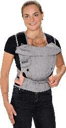 Hoppediz Babytrage Bondolino Plus One Size, grau-meliert