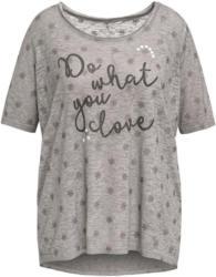 Damen T-Shirt mit Glitzer-Print