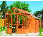 BayWa Bau- & Gartenmärkte Promadino Gewächshaus Mainau, mit Schrank