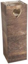 Kerzenständer - aus Holz - 12 x 12 x 34,5 cm