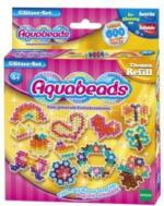 Aquabeads Perlen - Refill - Glitzer Set mit Malvorlagen