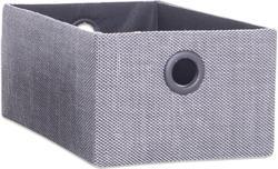 Aufbewahrungsbox - grau-schwarz - Größe L