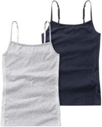 2 Mädchen Unterhemden mit Spitze