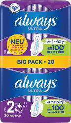 always Ultra Binden Long mit Flügel BigPack