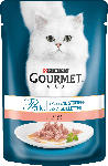 dm-drogerie markt GOURMET Nassfutter für Katzen, Perle Erlesene Streifen mit Lachs