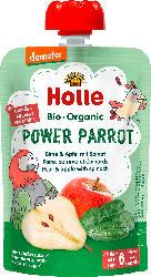 Holle baby food Quetschbeutel Power Parrot, Birne mit Apfel & Spinat ab 6 Monaten