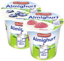 Ehrmann Almighurt Fruchtjoghurt versch. Sorten, jeder 150-g-Becher