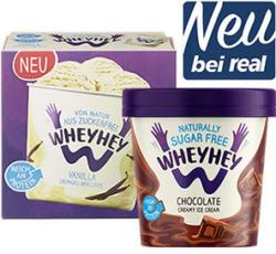 Wheyhey Protein Ice Cream versch. Sorten, jeder 500-ml-Becher