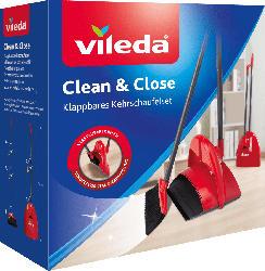 Vileda Clean & Close Kehrschaufel-Set klappbar Box