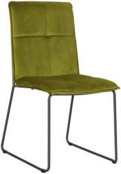 Stuhl In Metall, Textil Grün, Schwarz