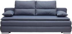 Schlafsofa in Textil Blau, Grau