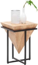 Beistelltisch in Holz, Metall 36/36/56 cm