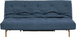 Schlafsofa in Holz, Metall, Textil Blau