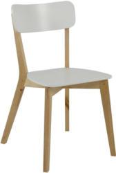 Stuhl in Holzwerkstoff Weiß, Birkefarben