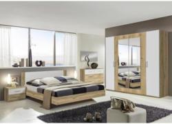 Schlafzimmer in Weiß, Eichefarben