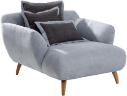 BIG Sessel in Textil Hellblau, Dunkelgrau