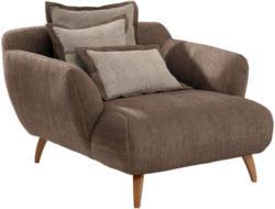 BIG Sessel in Textil Dunkelbraun, Hellbraun
