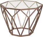 XXXLutz Zwettl Beistelltisch in Metall, Glas 55/55/38 cm