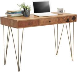 Schreibtisch in Holz, Metall, Holzwerkstoff 115/78/50 cm