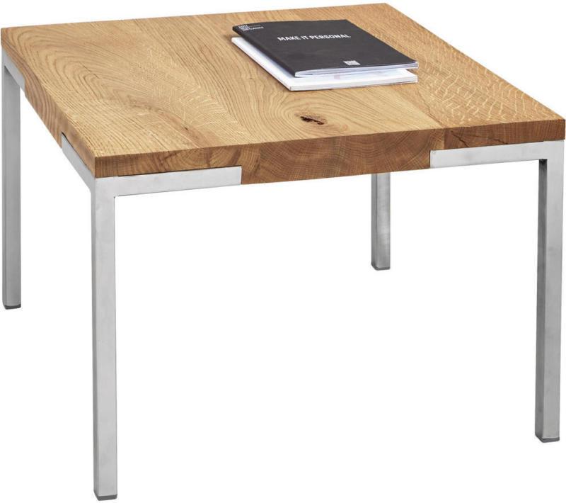Couchtisch in Holz, Metall 50/50/34 cm