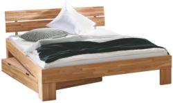 Bett 180/200 cm in Buchefarben