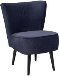 Sessel in Textil, Holzwerkstoff Blau