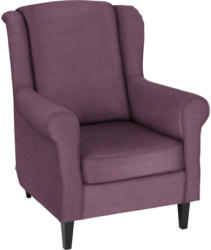 Sessel in Textil Violett