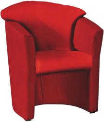 Sessel in Textil Rot