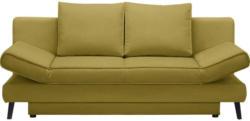 Schlafsofa in Textil Gelb, Goldfarben