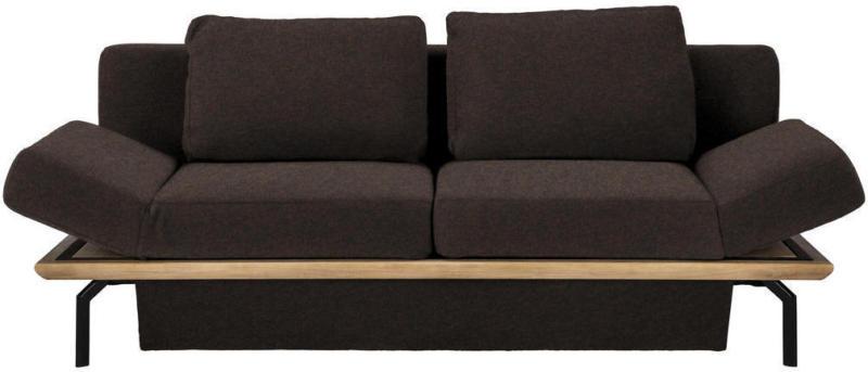 Schlafsofa in Holz, Textil Braun, Eichefarben
