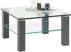 Couchtisch in Metall, Glas 75/75/43 cm