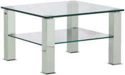 Couchtisch in Metall, Glas 75/75/42,5 cm