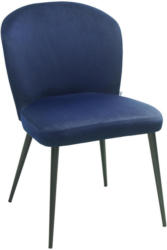 Stuhl in Metall, Textil Blau