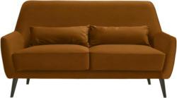 Dreisitzer-Sofa in Textil Gelb