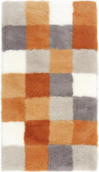 Badteppich 70/120 cm Grau, Orange, Weiß