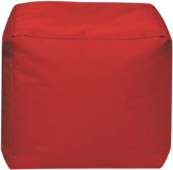 Sitzwürfel in Textil Rot