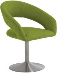 Stuhl in Metall, Textil Edelstahlfarben, Limette