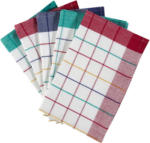 XXXLutz Knittelfeld Geschirrtuch-Set 5-Teilig Blau, Grün, Rot, Weiß