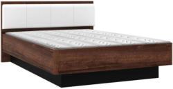 Bett In Schwarz, Weiß, Eichefarben