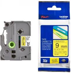 Brother P-Touch TZE621 9mm schwarz auf gelb Schriftbandkassette für Beschriftungsgeräte